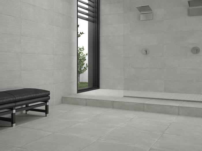 Badkamer Tegel Betonlook : Badkamer