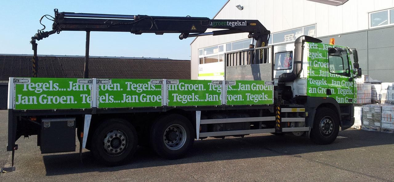 Jan Groen Tegels.Bezorgen